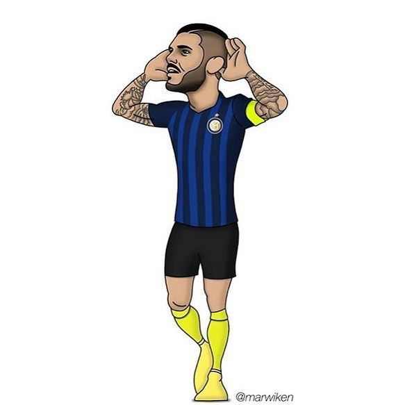 #mauroicardi #icardi #illustration #design #draw #paint #pazzainter #capitano #inter #fcim #striker #dessin #art