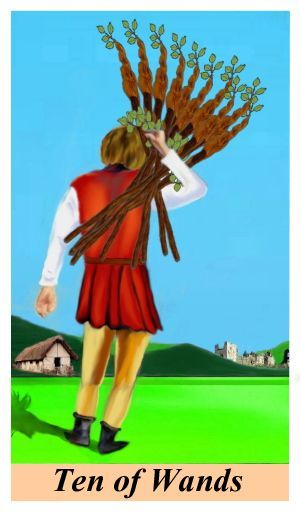 Be Careful What You Wish For With The Ten of wands #tarotreading