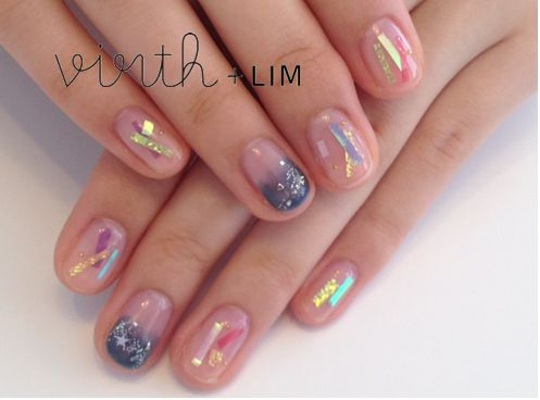 Star Festival Nails - expresses paper strips and ornaments that decorate bamboo branches with.