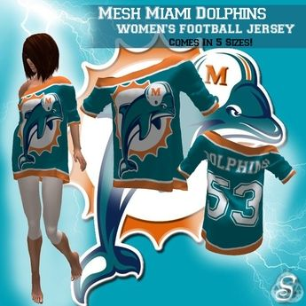 ~<Song>~ *Mesh* NFL Miami Dolphins Women's Football Jersey