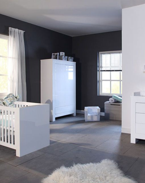 Europe Baby Somero Modern Nursery Furniture Roomset In High Gloss Wh Ideas Sets