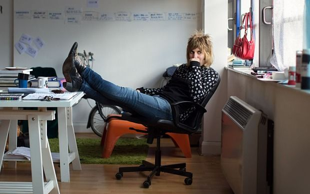 Noel Fielding, in his north-London studio
