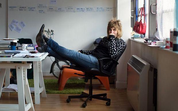 Noel Fielding, in his north-London studio