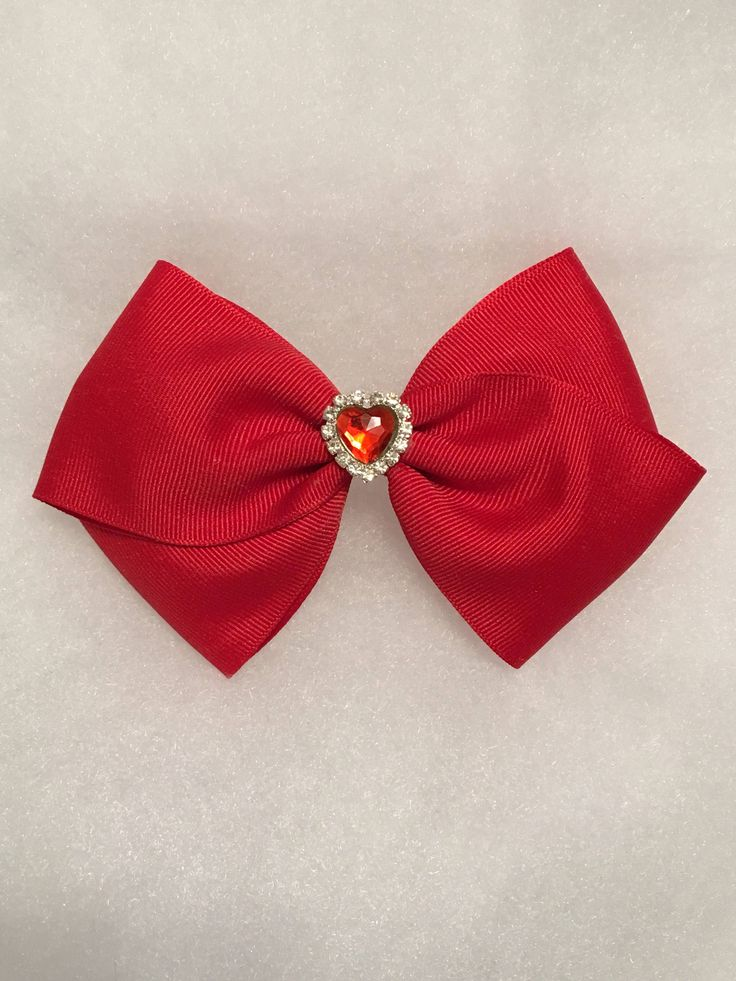Red Hair Bow - Girl's large red bow, Toddler hair bow, Hair accessory, Large hair bow, Large hair bow for girl, Hair clip for girl by JettsHairBows on Etsy