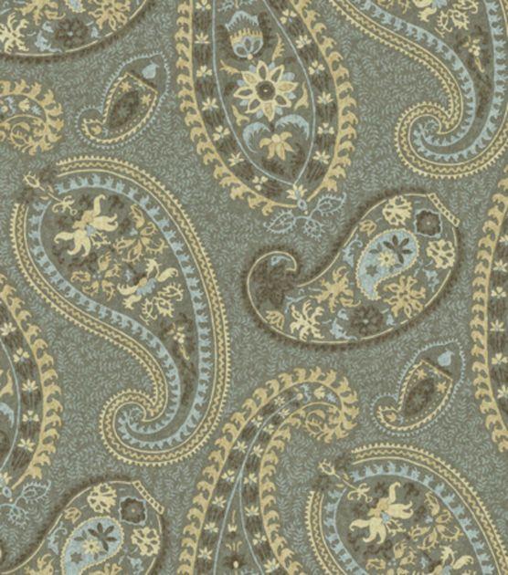 Home Decor Print Fabric Waverly Caftan Paisley Moonstone