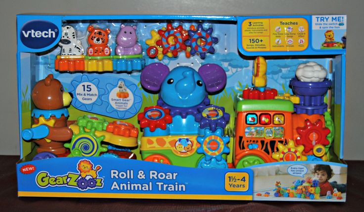 Yesterday I posted about some fun toys from Vtech. With many little ones to buy for this holiday season I needed to make sure to get them something fun but also educational. TheGearZooz Roll & Roar Animal Train fits that description and more. GearZooz Roll & Roar Animal Train by Vtech Features: Mix and match the 15 gears to play with different combinations and create your own train Put the Smart gears on the pegs to learn about animals Move the slider to learn about different locatio...