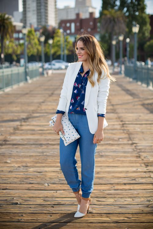 We're not surprised to hear that our Indigo Chambray Pants are @galmeetsglam's favorite go-to's!