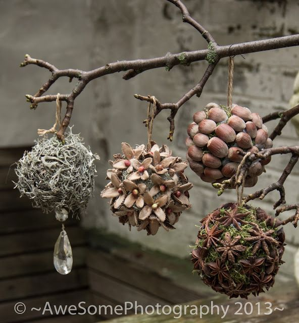 Beautiful ornaments from organic materials