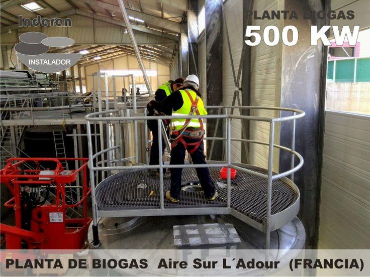 instalación de tuberias en tanque de intercambio de calor para biodigestores de glicerinas