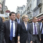 Manuel Valls et Delphine Batho a Lourdes