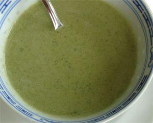 courgettesoep met blauwschimmel kaas 5* - erg lekker!