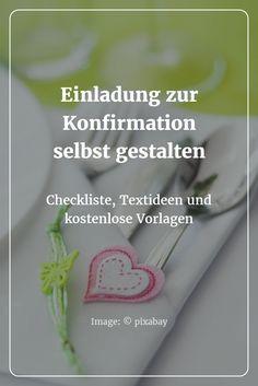 Einladung zur Konfirmation selbst gestalten: Checkliste & Textideen – Ich