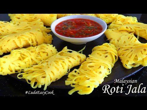 ☀БЛИНЫ РОТИ ДЖАЛА☀ Малазийские кружевные блины с соусом Net Pancakes ROTI JALA Bánh pancake lưới - YouTube