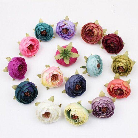 Wholesale Silk Peony Flower Heads 300 Flowers Quality Silk Flowers