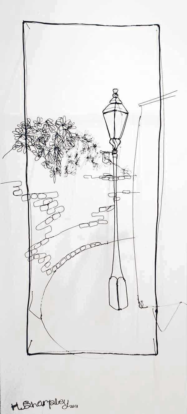 Junction Art Gallery - Helaina Sharpley 'Lampost - Bulwarks Lane'