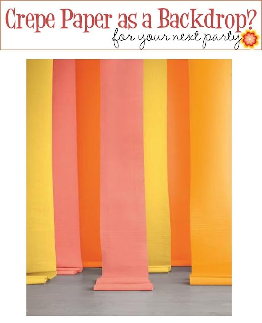 Crepe Paper Backdrop - photo booth???