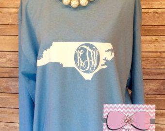 State Monogram T-Shirt State Shirt State by SeptemberDaisies