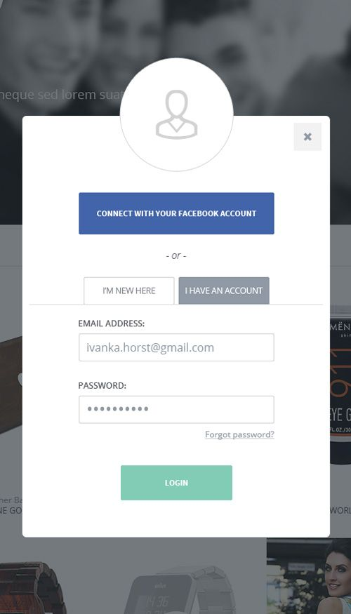 I didn't even think to have this linked with Facebook || Sign UP / Login Forms UI Designs