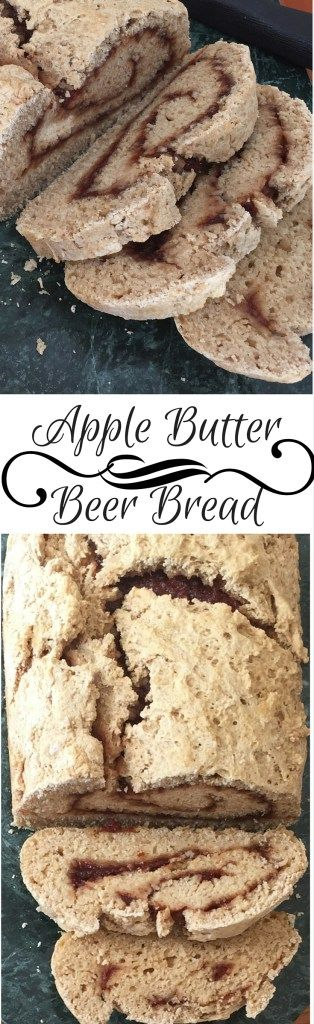 Whole Wheat Apple Butter Beer Bread - Dollop of Yum