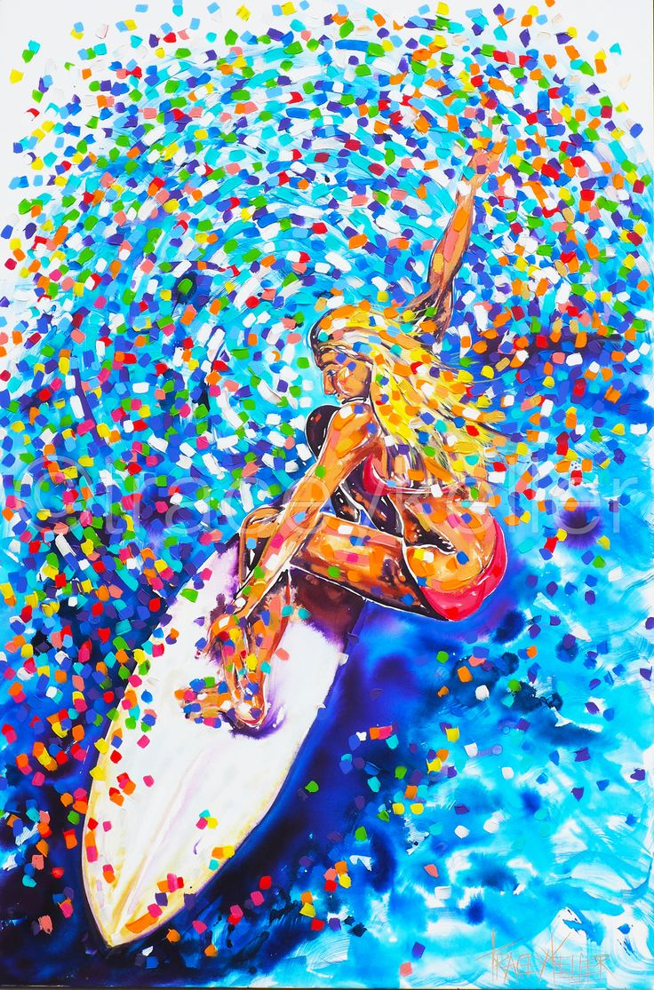 surfer girl painting tracey keller