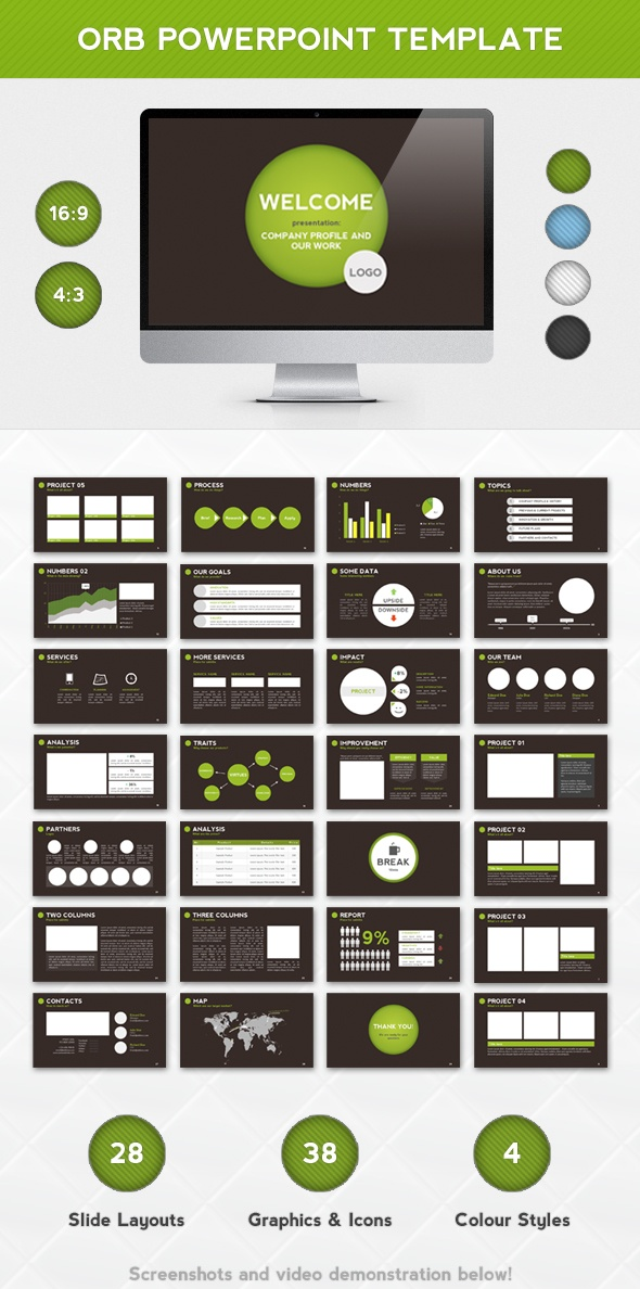 - Orb PPT -  Presentation template goes well with corporate, green, earth, circle and other themes.    Check this and more at: http://graphicriver.net/item/orb-powerpoint-template/2979239?ref=stunvisuals