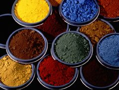 colorful powdered pigment to add to portland cement mix