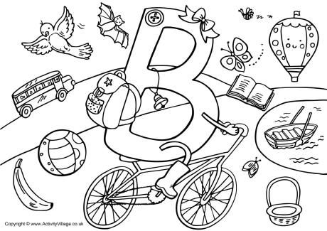 Geography Blog Letter B Coloring Pages