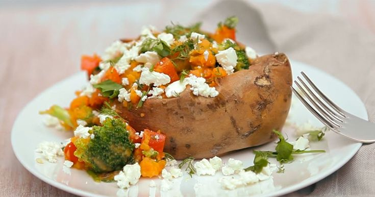 Make this easy and healthy stuffed sweet potato recipe that will fill you up and satisfy you.