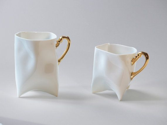 Porcelain cups set by ENDEsign on Etsy