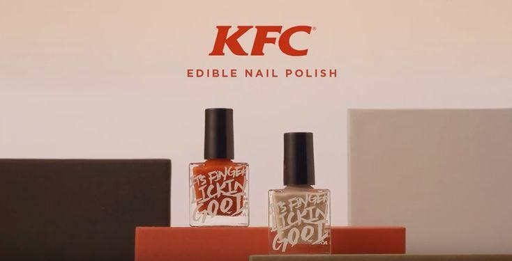 KFC edible nail polish bottle