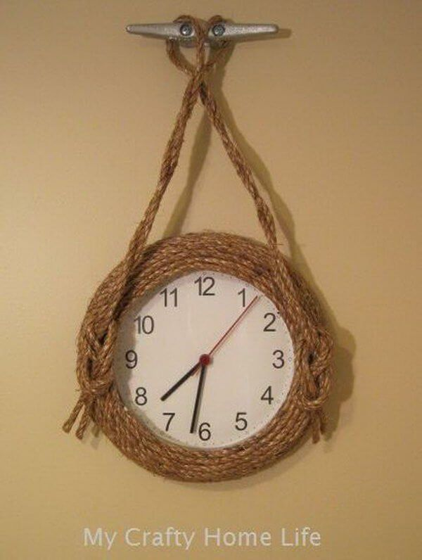 Nautical Twine and Dock Cleat Timepiece