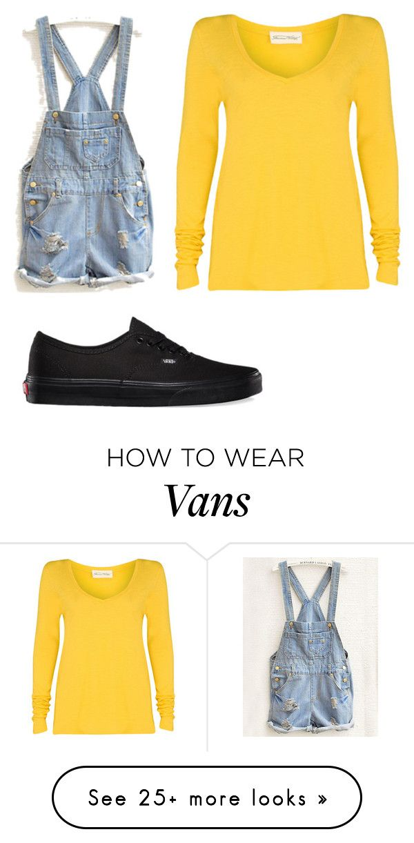 """Minions Outfit"" by kaceyeloy on Polyvore featuring American Vintage, Vans, women's clothing, women's fashion, women, female, woman, misses and juniors"
