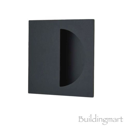 Details about Matt Black Finish Square Flush Pull (1146) - Sliding Door Handle
