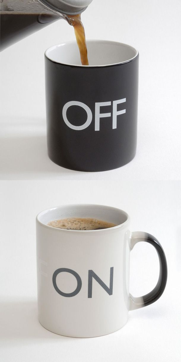 On / Off Mug - changes with hot liquid