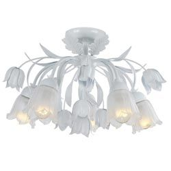 Bubble Shade Crystal and Chrome Flushmount Chandelier - Overstock Shopping - Big Discounts on The Lighting Store Flush Mounts