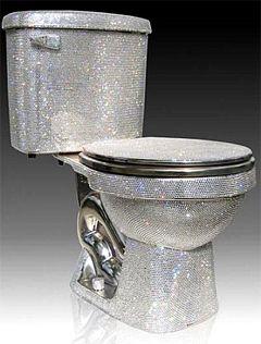 Diamond toilet seat