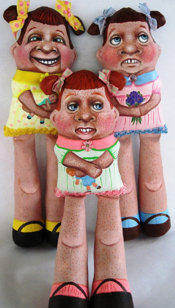 Cloth Doll Painted Doll Hanging Ugly Ginger