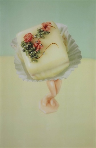 Laurie Simmons, Four Petits Fours (Study for Walking Cake), Yellow