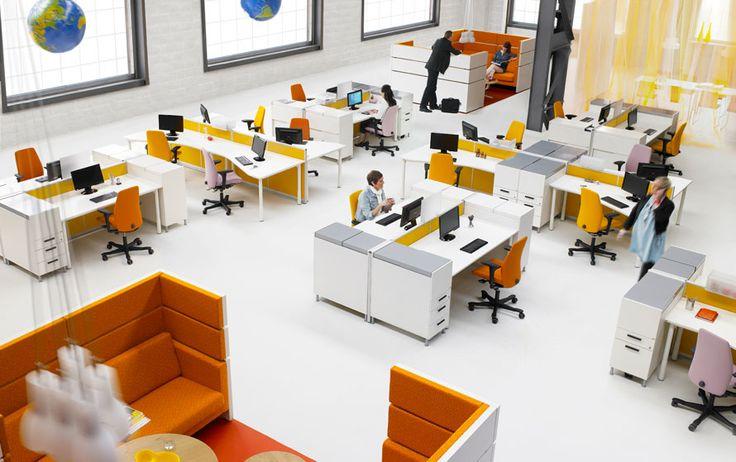 Desain kantor dengan konsep seperti ini terbukti dapat meningkatkan produktivitas karyawan. #desainkantor
