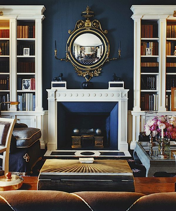 Feeling Bookish Markham Roberts Decorating The Way I See It Navy Living RoomsFormal RoomsLiving Room ColorsBlue