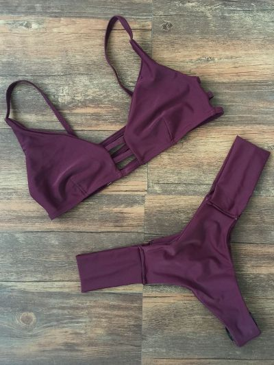 SHARE & Get it FREE | Deep Purple Spaghetti Strap Bikini SetFor Fashion Lovers only:80,000+ Items • New Arrivals Daily Join Zaful: Get YOUR $50 NOW!