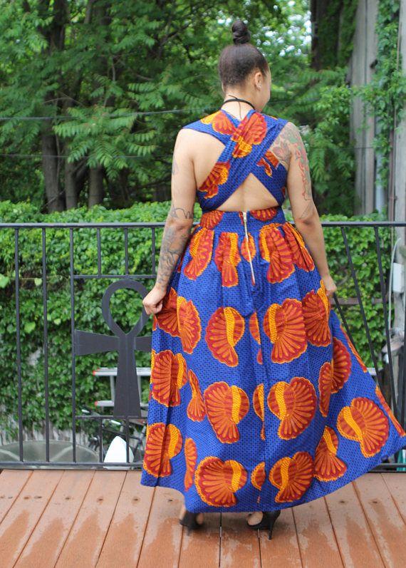 MIA  africanos grabado infinidad de Maxi vestido