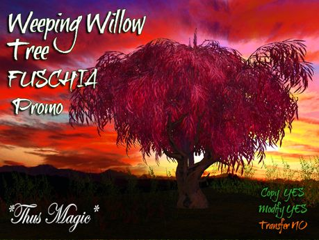 Second Life Marketplace - *Thus Magic* ~Weeping willow tree FUSCHIA ~ PROMO !