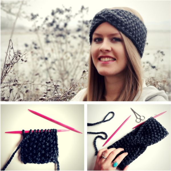 Anleitung: Twist-Stirnband mit Perlmuster stricken
