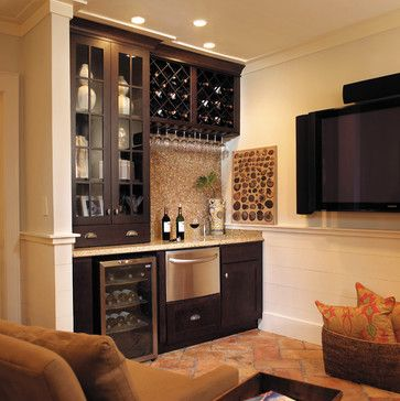 Fieldstone Cabinetry in Coastal Living Magazine | Wine space | all it needs is a sink.