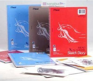 Mead Academie Sketch Diary Akademi Spiralli Taslak ve Çizim Eskiz Defteri A6 50 Yaprak