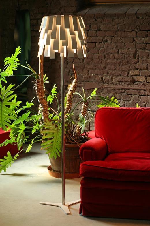"""Lampe de table ou de terre """"Francine"""" de Solzi Luce, en lamelles de métal, très 60s ;-)"""