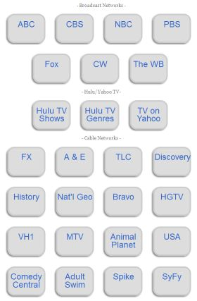 Internet TV Remote Control! The best sources of free TV on the Internet on one easy-to-use page for free, click the image and bookmark it!