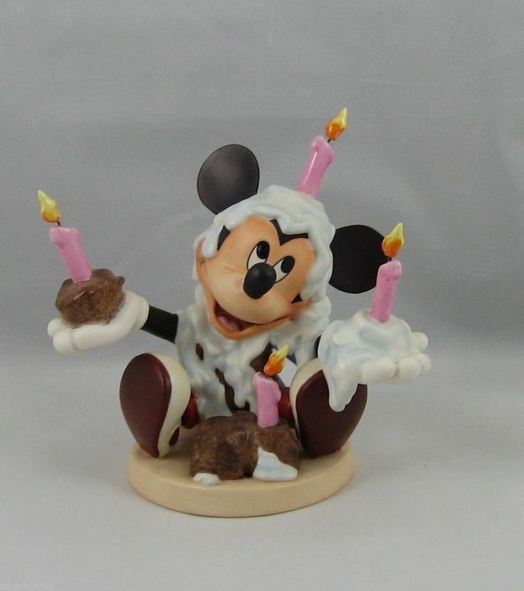 Amazon.com: Disney Showcase Collection Mickey Mouse ...  |Mickey Mouse Birthday Figurines