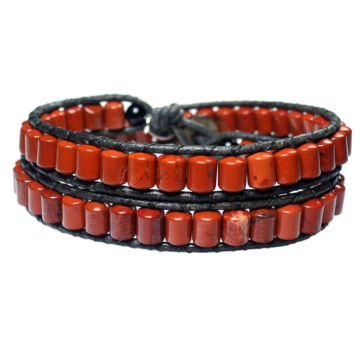Men's wrap bracelet classic B6 Jasper